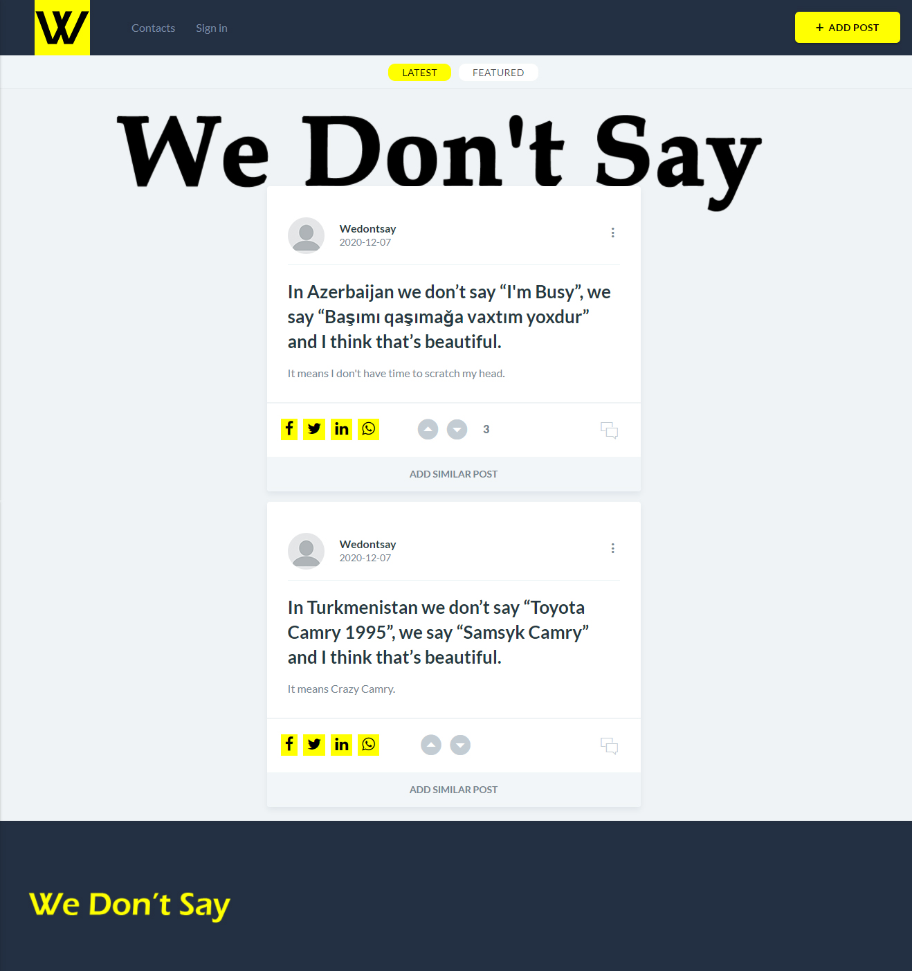 We Don't Say